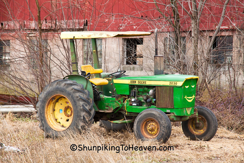 John Deere Tractor with Face, Sauk County, Wisconsin