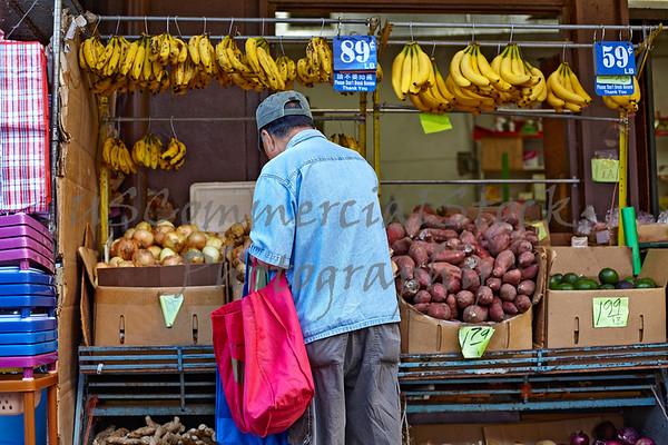 Chinatown fruit and vegetable vendor Honolulu Hawaii