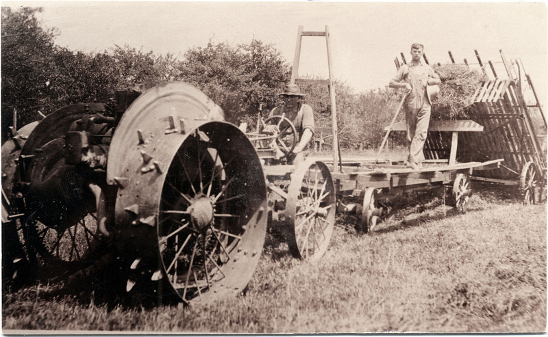 Minneapolis Moline front wheel drive harvesting hay. (Photo ID: 28128)