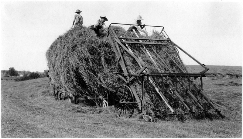 Loading hay. (Photo ID: 29668)
