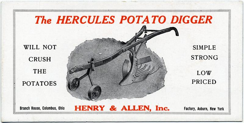 The Hercules Potato Differ, Henry & Allen, Auburn, NY. (Photo ID: 41110 b)