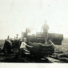 On the tractor is Gin on bailer left is Jo right side sitting Martin and standing is Peck. (Photo ID: 35779)