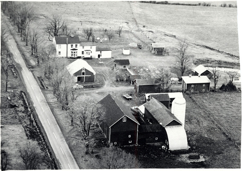 Aerial view of Fessenden's Farm, King Ferry, NY. (Photo ID: 29353 b)