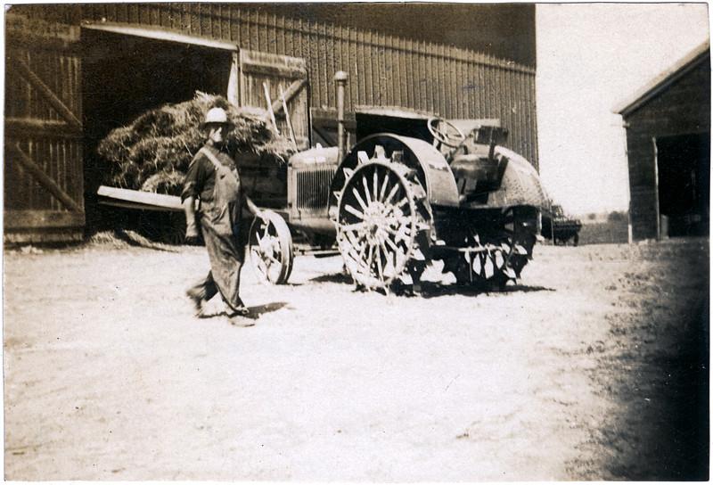 William Wirt Patterson at Fairfields farm, Townline Road, Aurelius, NY. (Photo ID: 38229)