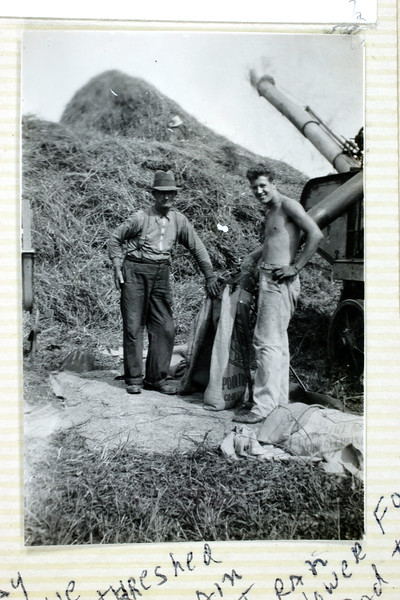 Threshing grain. (Photo ID: 35796)