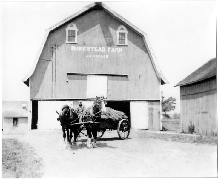 Allen Jerome Barger who died in 1944. This barn is standing (2013) on the McGarr Farm on RT 34B, King Ferr. (Photo ID: 47030)