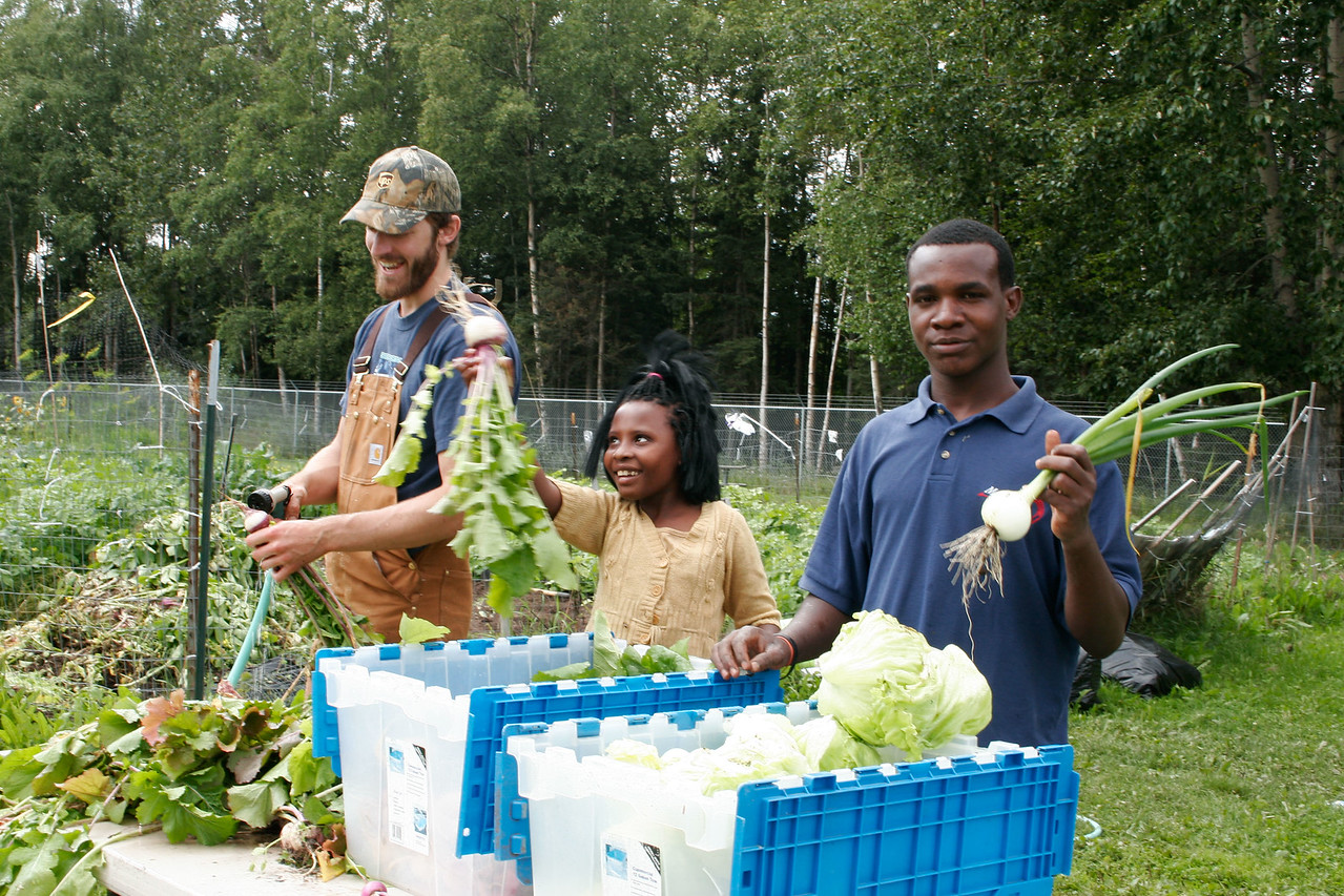 refugees at Community Garden