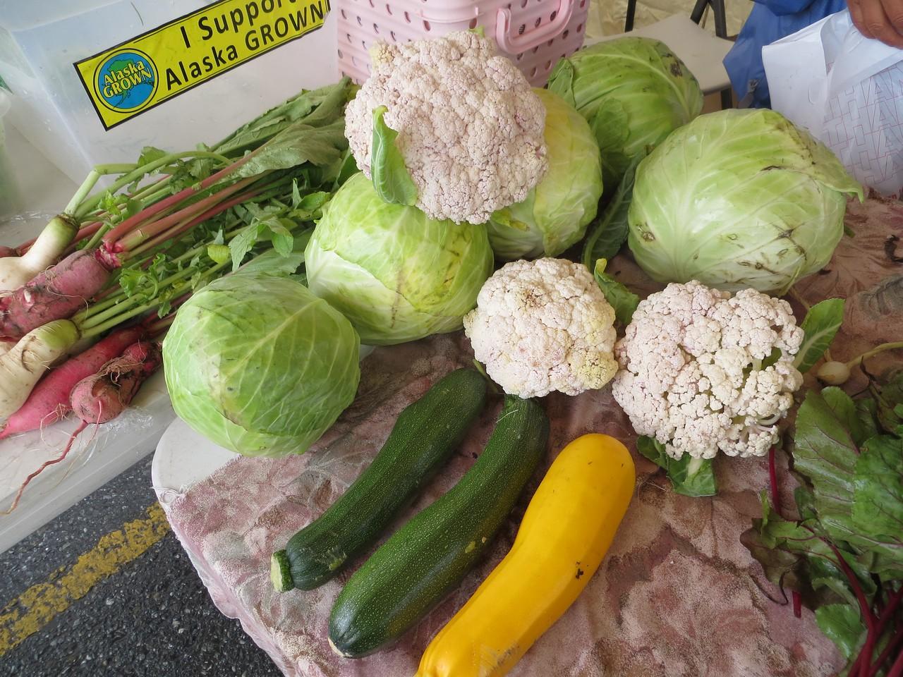Vegetables for sale at farmers market