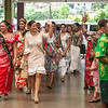 Miss South Pacific contestants arrive at the Ulu Festival.