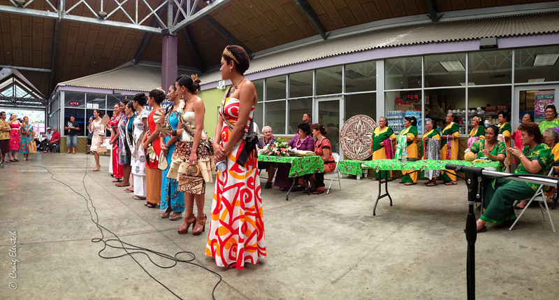Miss South Pacific contestants each address the crowd.