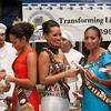Miss South Pacific contestants taste desserts by the American Samoa Culinary Academy. Miss Samoa (center) won the Miss South Pacific pageant on December 8.