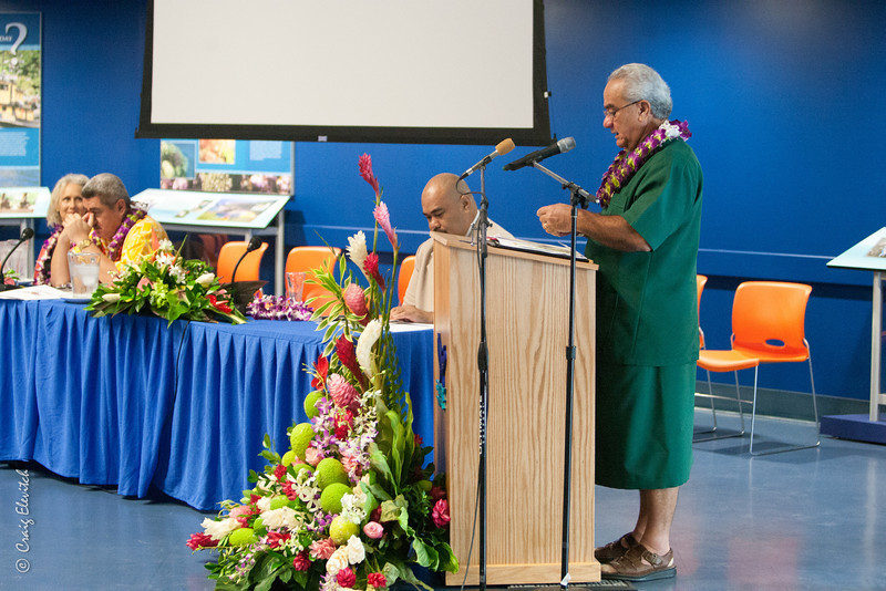 The Honorable Governor Togiola T.A. Tulafono opens the Summit