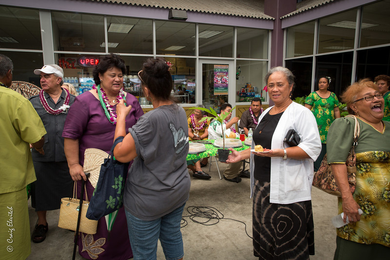 Many people got to take home a 'Ma'afala' tree courtesy of the Department of Agriculture.