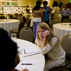 Stacie Clary, an Administrative Council member, listens attentively to participants.