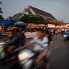 Markets held every evening are bustling.