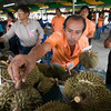 First cut in the durian competition.
