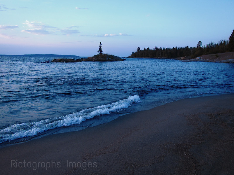 Lake Superior, Beach at Terrace Bay, Ontario, Canada. Near The Mouth Of The Aguasabon River.