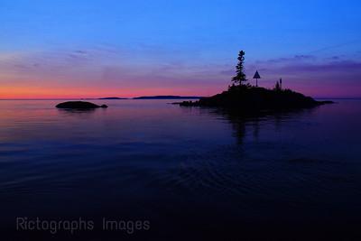 Twilight Lake Superior,
