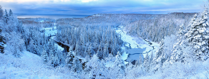 Winter Scene, Terrace Bay, Ontario, Canada