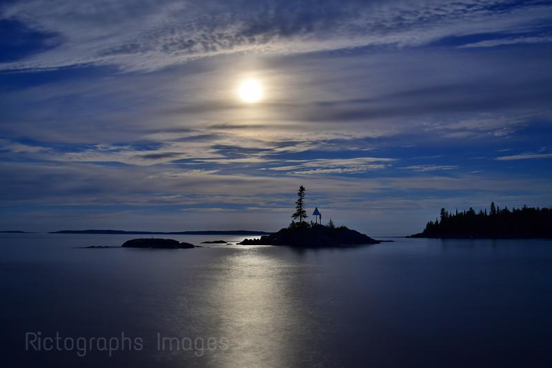 The Moon, Lake Superior, Summer 2018