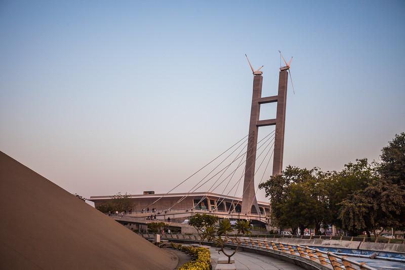 A bridge next to Dandi Kutir - The Gandhi Museum, Gandhinagar, India