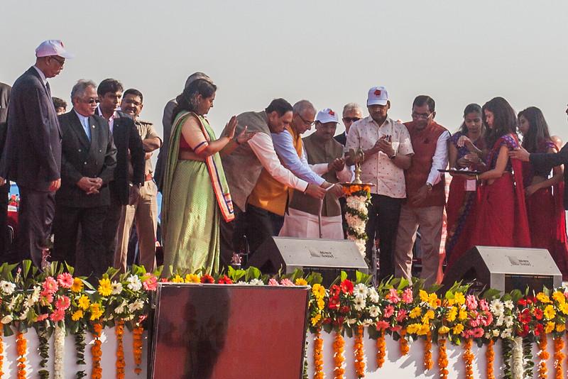 Inauguration ceremony of the International Kite Festival 2019, Ahmedabad, India