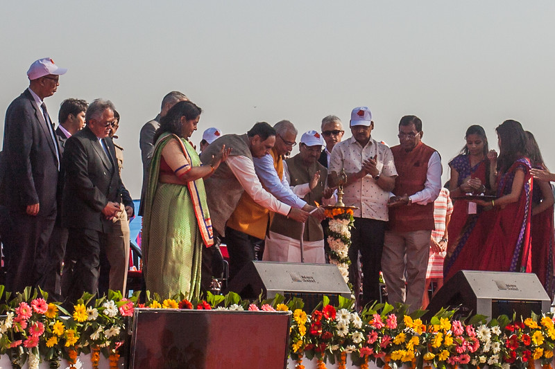 Inauguration ceremony of the International Kite Festival 2019, Ahmedabad, India