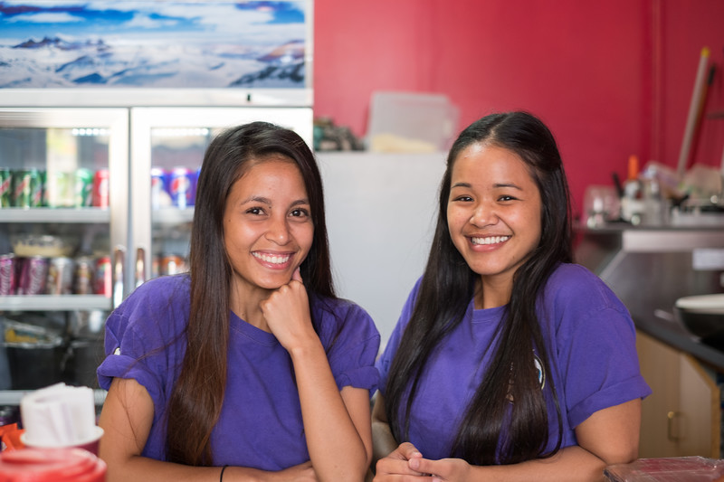 """""""Climate change is making our Islands disappear. So we must be the change we want to see"""", Karen & Greti"""