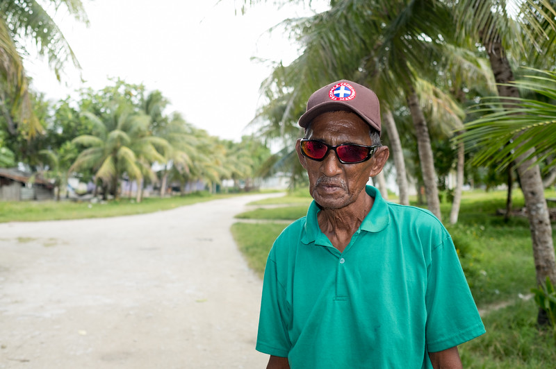 """""""I am 80 now. I have seen lots of changes since I was a young man because of climate change. Things we didnt used to have. Flooding. Droughts. Our beaches are being washed away. Smaller fishing catches"""", Banep"""