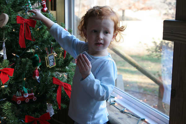Aidan -Christmas at Grannie and Papaws