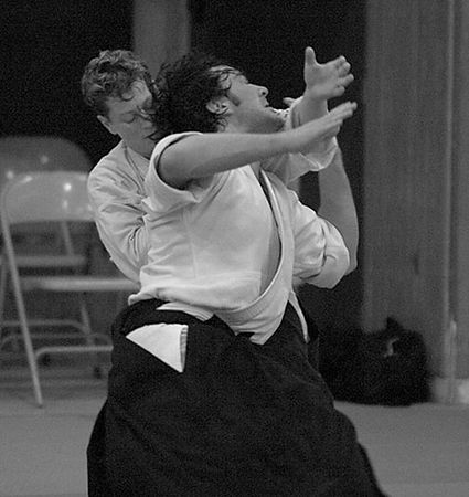 Feder Sensei and Lasky Sensei at Aikido of Northern Virginia - August 27, 2004