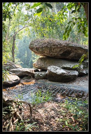 Kbal Spean - rivière aux milles lingas