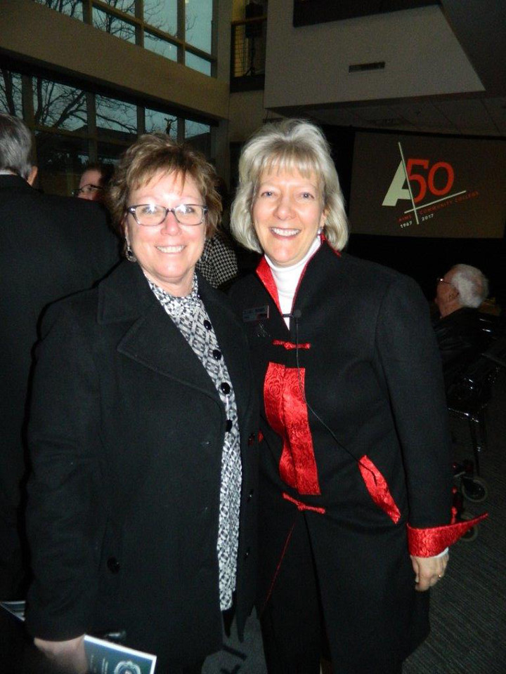 Dr. B with Julie Cozad, this year's chair of the Weld County Commissioners