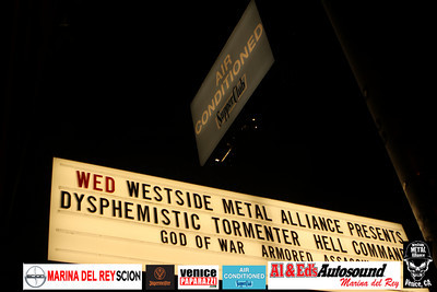 For booking and information. Westside Metal Alliance. http://www.westsidemetalalliance.com.   Air Conditioned Supper Club. 625 Lincoln Blvd. Venice, Ca 90291. http://www.airconditionedbar.com. Photo by Venice Paparazzi. http://www.venicepaparazzi.com.