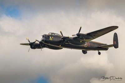 The BBMF Avro Lancaster at Shoreham Airshow 2014
