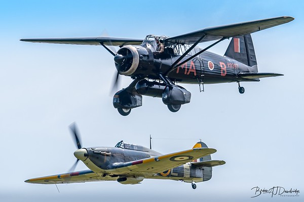 1938 WESTLAND LYSANDER and Hawker Sea-Hurricane