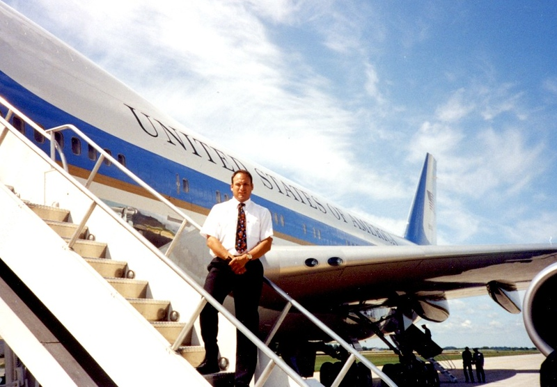 George on Air Force One
