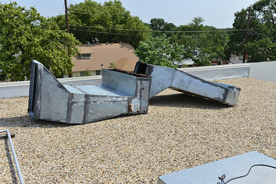 old rooftop ductwork removed