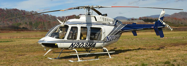 """1996 Bell 407<br /> Tail # N203HA<br /> S/N # 53023<br /> <br /> Former """"N7240Q""""<br /> <br /> Formerly served Brazil as """"PT-YBU""""<br /> <br /> Andrew Messer Photo"""