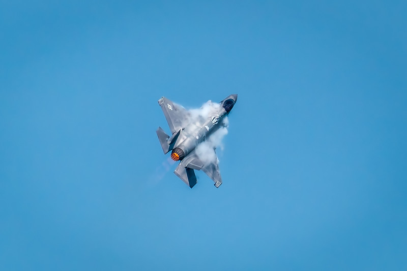 F-35 With Vapor Trails - John O'Neill