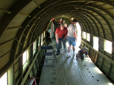 C-47 interior, Andrews AFB Joint Services Open House, May 19, 2007.