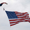 Parachuting Old Glory, Andrews AFB Joint Services Open House, May 18, 2008.
