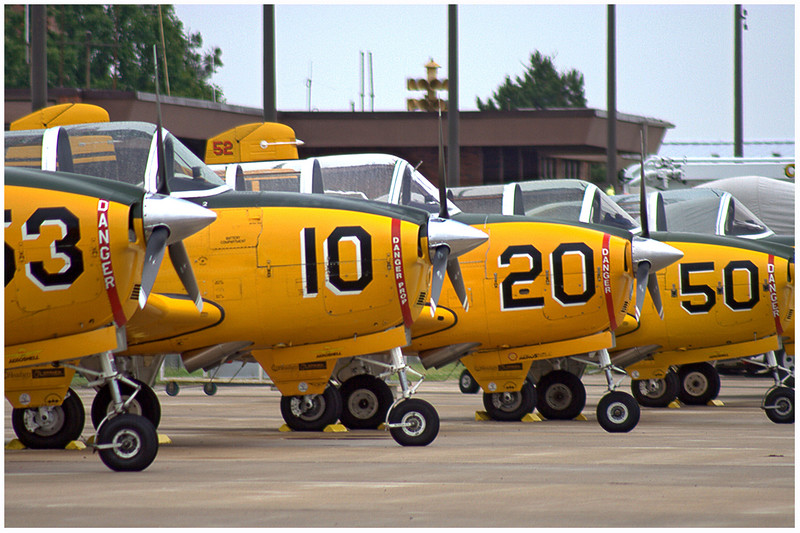 Flight team Lima Lima visits the Salute to Veterans Airshow. This was a photo of their T-34 Mentors.