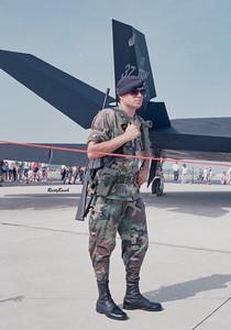 Stealth Fighter under guard