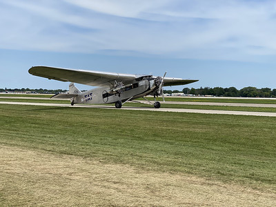 Ford tri motor giving rides. I have the certificate from 40 years ago the last time I flew in this thing.