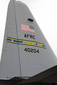 A C-130 Hercules transport from Dobbins ARB was on static display. The C-17 that was supposed to be on display was needed for Hurricane IKE relief flights.