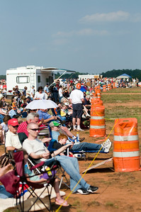 This is a shot down the crowd line at the Anderson Regional Airport. Some lucky person got there early enough to park their RV right at the show line.