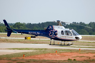 One of two Medivac helicopters that were on standby.