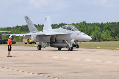 The second of two F/A-18 Super Hornets from NAS Lemoore, CA arrive on Friday afternoon for the Vidalia Onion Festival Air Show.