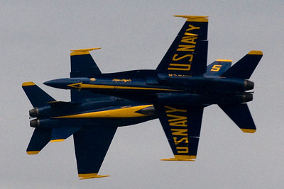 Blue Angels crossing shot from Saturday March 28, 2009 at the Gulf Coast Salute Air Show at Tyndall AFB in Florida.